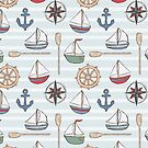 Nautical Sailboats and Anchors by kellie-jayne