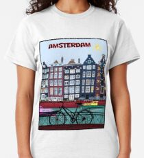 BICYCLE RIDING; In Amsterdam Holland Print Classic T-Shirt