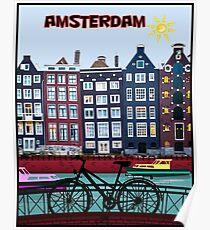 FAHRRAD FAHREN; In Amsterdam Holland Drucken Poster
