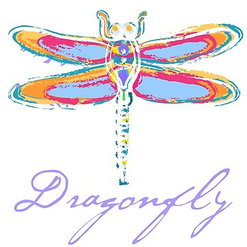 Colorful Dragonfly by evisionarts