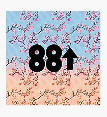 Cherry Blossoms 88Rising Logo Photographic Print