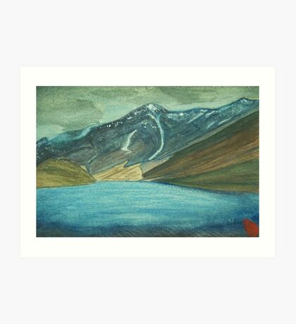 Chandra Taal Lake!! (The lake of the moon) Art Print