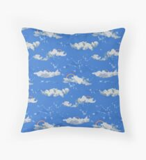 Rainbows and Clouds Throw Pillow
