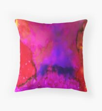 Purple Flare Throw Pillow