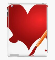 Brush Heart iPad Case/Skin