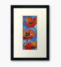 Sky full of Poppies Framed Print