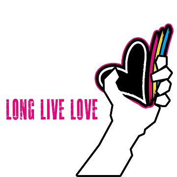 Cartoon Heart Presents: Long Live Love. -Graphic T-Shirt by CartoonHeart