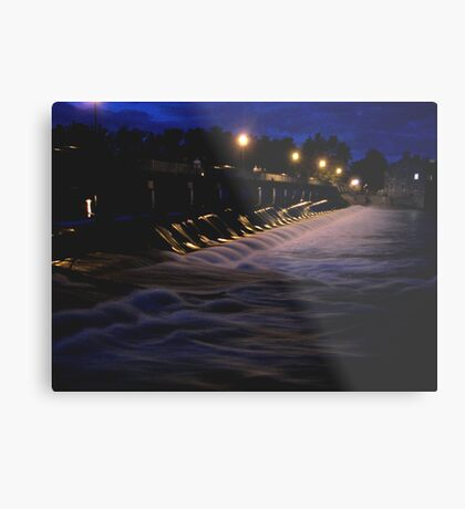 Night Light WaterFall In Motion  Metal Print