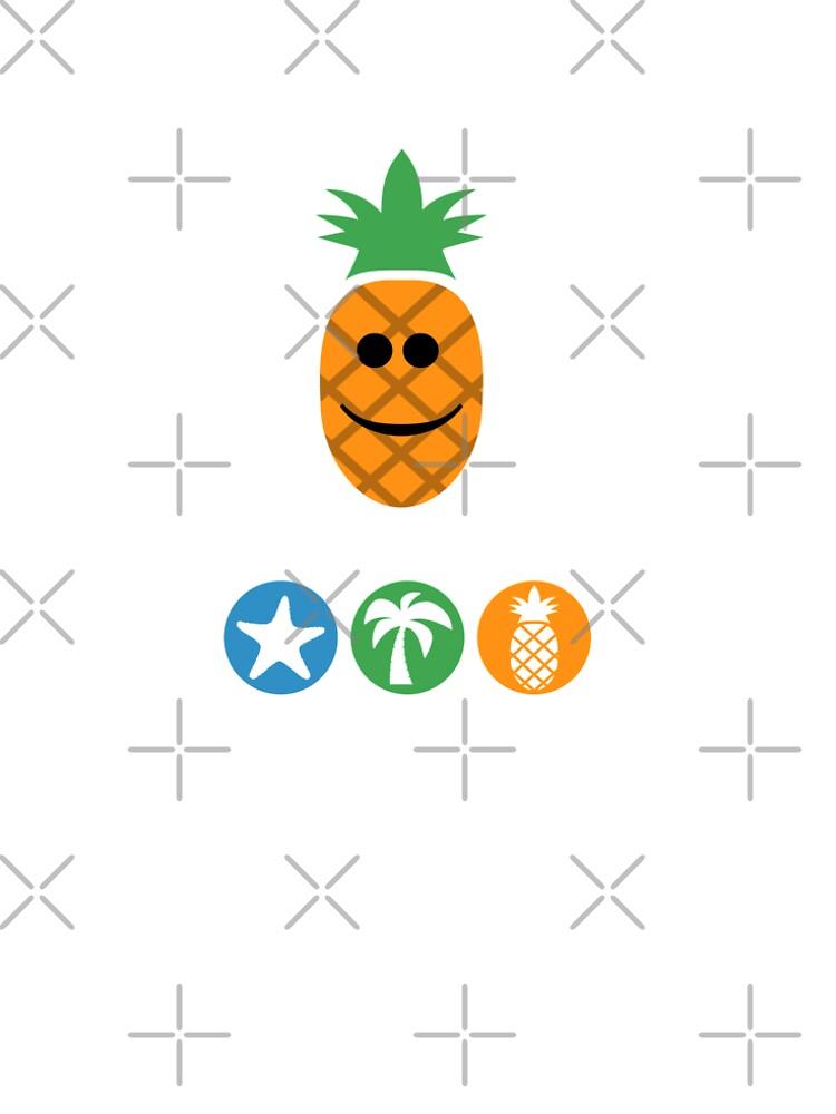 Aloha Pineapple Design, White Lettering