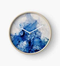Bold Splash_ Abstract Painting Clock