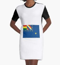 Naval Ensign of Bolivia  Graphic T-Shirt Dress
