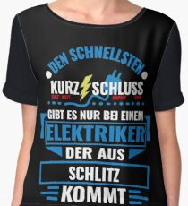 SCHLITZ - We have the best electricians, no one gets it so fast. Chiffon Top
