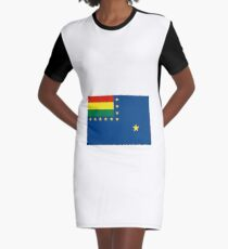 Naval Ensign of Bolivia, 1966-2013 Graphic T-Shirt Dress