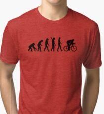 Evolution cycling bicycle Tri-blend T-Shirt