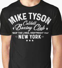 Mike Tyson - Catskill Boxing Club - White Graphic T-Shirt