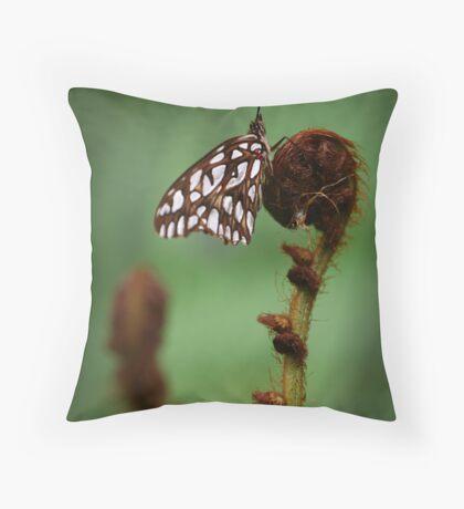 Agraulis Vanillae on Crozier Throw Pillow
