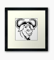 GNU's not Unix! Framed Print