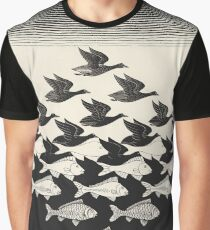 Sky and Water I - Maurits Cornelis Escher Graphic T-Shirt