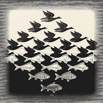 Sky and Water I - Maurits Cornelis Escher by CodyBradley