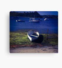 Boat on a lake Canvas Print