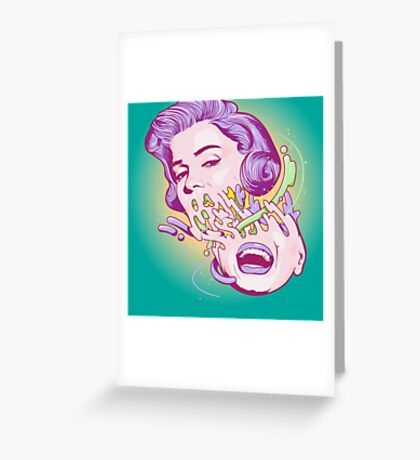 Happily melting Marylin Monroe Greeting Card