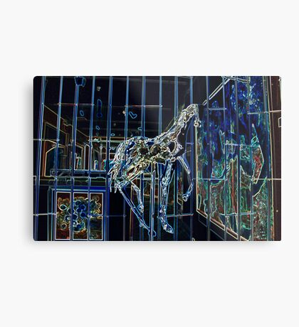 Glass Horse Metal Print
