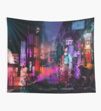 Unleashed at Night Wall Tapestry