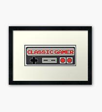 Classic Gamer (NES VERSION) Framed Print
