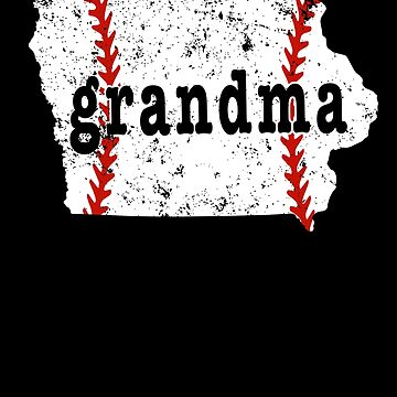 Best Baseball Grandma Iowa Grandma Softball Shirt by shoppzee