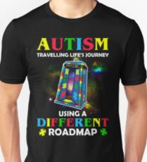 Autism Shirt - Traveling life's journey, using a different roadmap.  Unisex T-Shirt