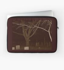 Spirit Trees in the Cemetery at Night Laptop Sleeve