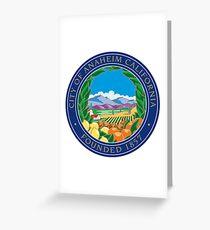 Seal of Anaheim  Greeting Card
