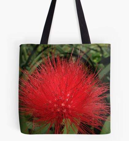 Red Calliandra Tote Bag