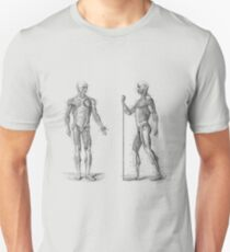 Dual View Human Muscle System - Vintage Anatomy Unisex T-Shirt