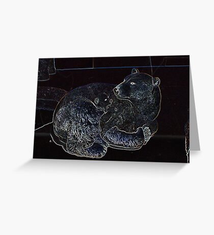 Baby And Mommy Bear Greeting Card