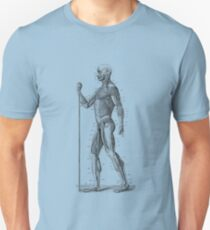 Side View - Human Muscle System - Anatomy Diagram Unisex T-Shirt