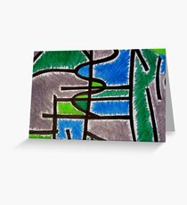 Abstract Léger no.4 Greeting Card