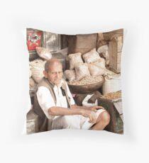 ' Roadside Merchant ' Throw Pillow