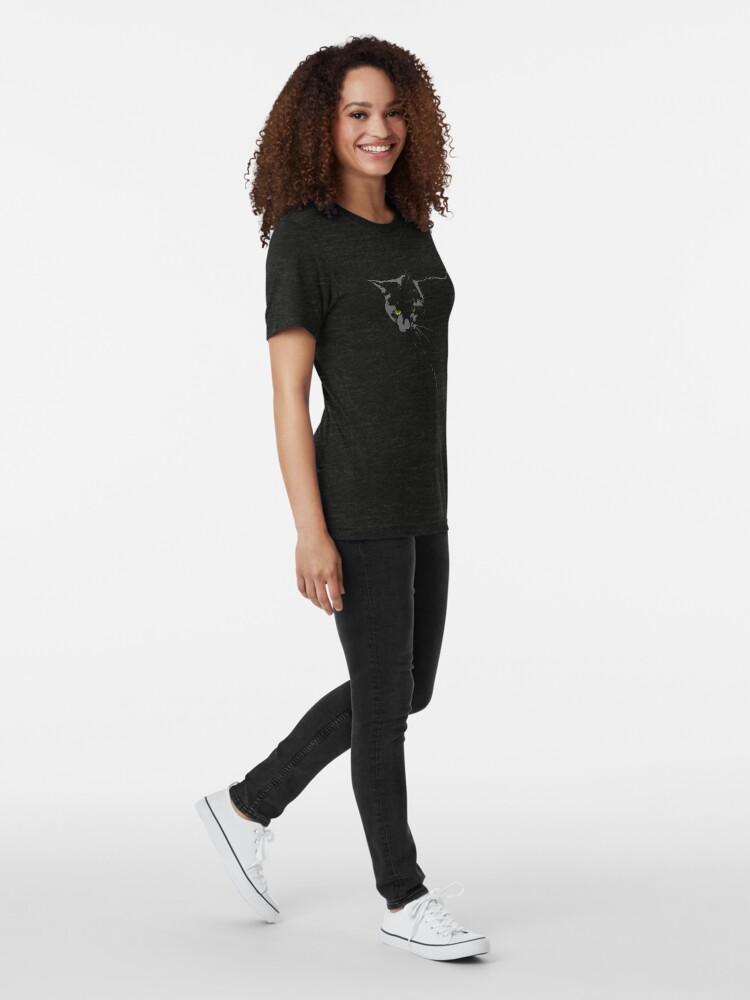 Alternate view of Black Cat 1 Tri-blend T-Shirt