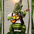 ♪ Dino Guitarist Under the Palms ♪  by Heather Friedman