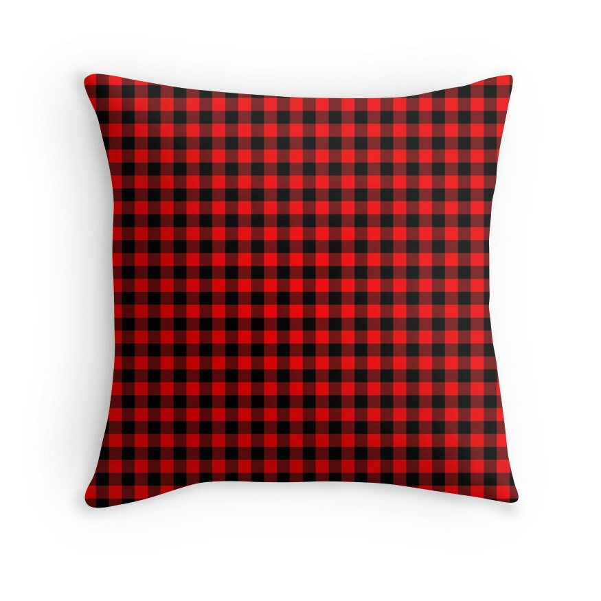 Australian Red and Black Outback Check Plaid