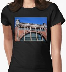 Power Station Façade, Malmo, Sweden Women's Fitted T-Shirt