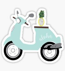 Scooter, Scooter Sticker, Scooter Art, Scooter Trash, Scooter Pineapple, Hawaii, Aloha Sticker