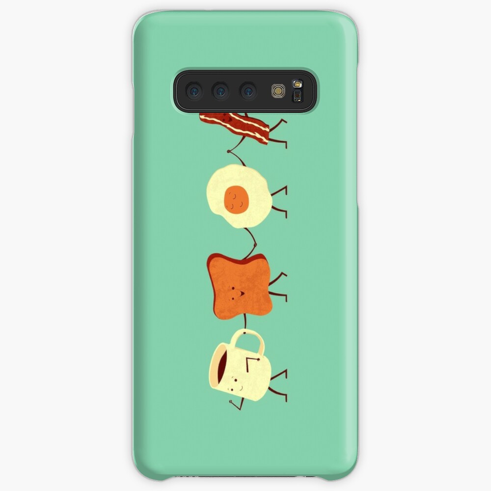 Lass uns alle gehen und frühstücken Hülle & Klebefolie für Samsung Galaxy