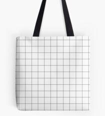 White Grid Tote Bag