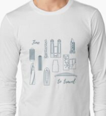 Unusual Japanese architecture. Travel and leisure. Long Sleeve T-Shirt