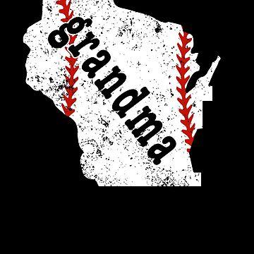 Baseball Grandma Shirts For Women Wisconsin Softball Grandma by shoppzee