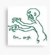 Grr Argh Monster - Buffy the Vampire Slayer, Mutant Enemy, 90s, BTVS, Zombie, Joss Whedon, Buffyverse, Monster, Vampire, Grrr Arrgh Canvas Print