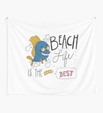 Beach life is the best T-shirt design , Unisex tees  Wall Tapestry
