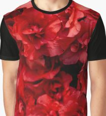 Background of beautiful red azalea flowers Graphic T-Shirt